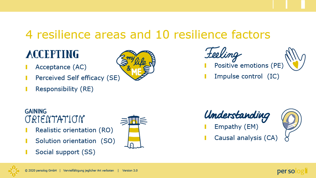 resilience areas and factors